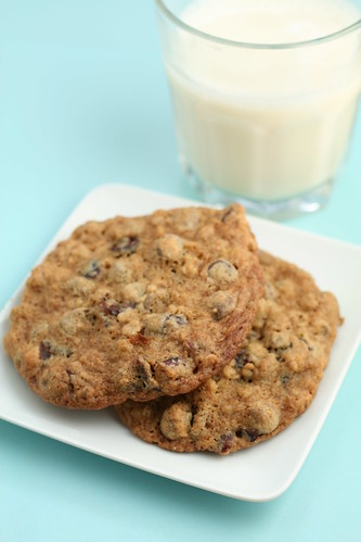 Oatmeal Craisin Pecan Chocolate Chip Cookie