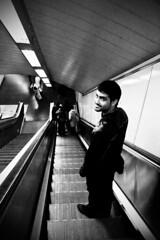 Yes! I love subway! (atwosesa) Tags: madrid stairs underground mechanical metro tube escaleras aitor mecnicas