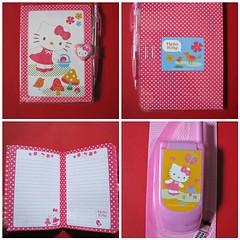 Hello Kitty at Target (esmereldes) Tags: pink red cute mushroom paper notebook hellokitty cellphone sanrio kawaii calculator target stationary mosaic124999