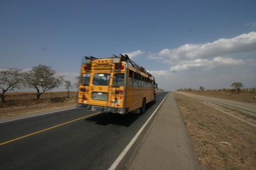 Chicken bus, Nicaragua.