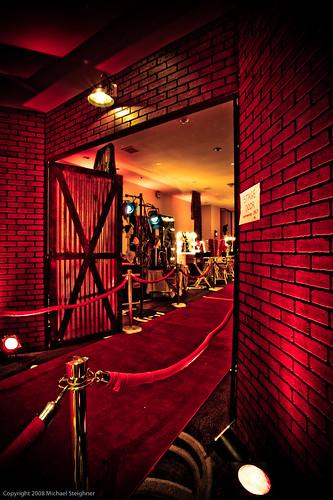 Faux backstage entrance