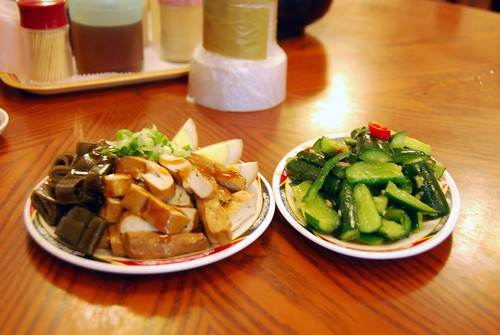 dreid tofu, tea eggs, seawees, and cucmbers, taipei