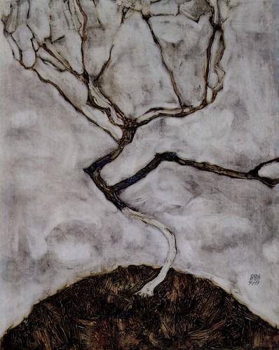 Kleiner Baum im Spätherbst, de Egon Schiele (1911)