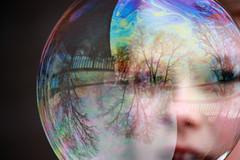 (Reflective Perspective Photography~) Tags: trees people reflection kids canon reflections fun outdoors spring eyes different unique bubbles bubble digitalcameras canonrebelxsi canoneosdigitalrebelxsi