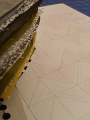 new quilt in prog. (whatisneversaid) Tags: green sketch moss quilt workinprogress wip zigzag