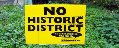 No historic district sign