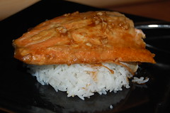 Mustard-Soy Glazed Trout with Brown Sugar and Ginger