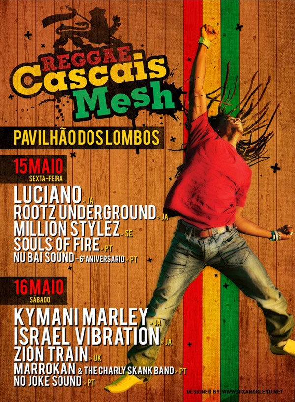 Reggae Cascais Mesh - Cartaz