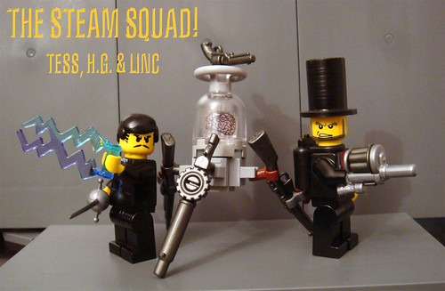 The Steam Squad custom minifigs