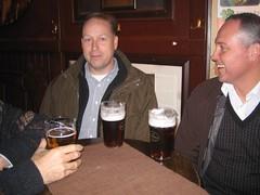Paul and Gier enjoying a pint before dinner (bryanDeldridge) Tags: winter oslo norway scandanavia