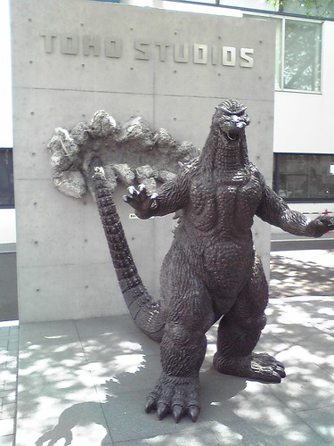 Godzilla statue at Toho studio