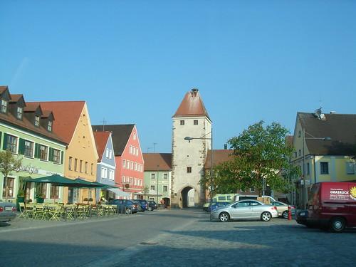 Oberer Turm und Martkplatz, Freystadt (Bayern)