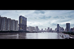 _DSC0610 (ce28nn) Tags: guangzhou china city bridge urban water river lens nikon skyscrapers widescreen chinese highrise kit 1855mm moment cinematic canton pearlriver  stormyclouds  d90 developement itsabouttorain