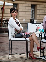 red shoes (Locsei Szilard) Tags: woman sexy beautiful lady high cool shoes highheels legs young style purse heels hairstyle elegance