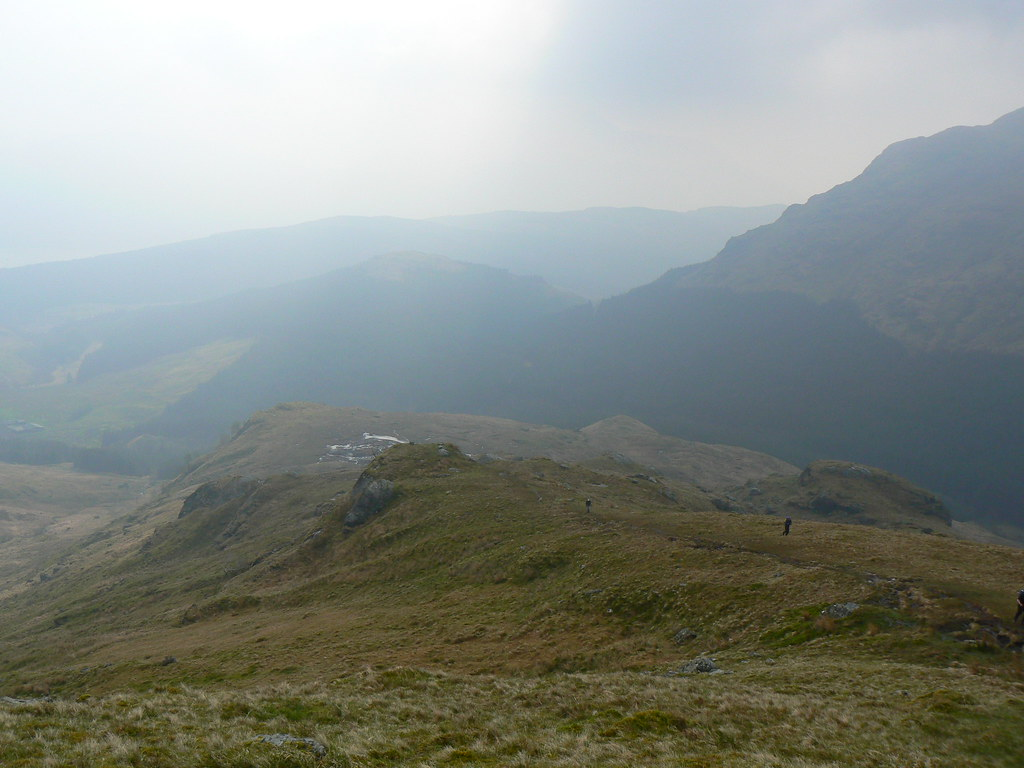 The lower slopes of the south ridge