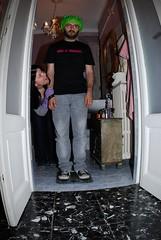 It's not period! ([Charlotte]ThePhilosopher) Tags: party man bathroom friend friendship toilet frog uomo claudio drama festa rana bagno gatto amicizia amico divertimento gattonero cuffia nonperiodo acasadifiammi