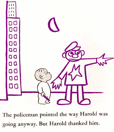 Top 100 Childrens Novels #16: Harold and the Purple Crayon by Crockett Johnson