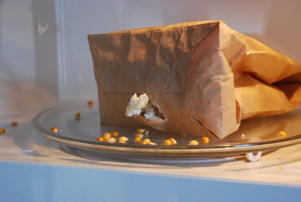 Microwave popcorn FAIL