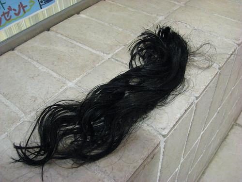 髪の毛切っただ。