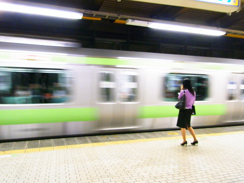 Woman who waits for Yamanote line