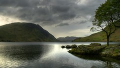 Crummock Water (ChrisCampbell-CM) Tags: trees lake mountains water clouds reflections landscape nationalpark district lakes lakedistrict stormy cumbria fells lakeland hdr thelakes crummockwater buttermere lakedistrictnationalpark borrowdale crummock whitehavensnappers