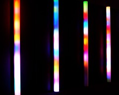 light lines (Min_Max) Tags: light color colour reflection lines reflections lights sticks rainbow colorful colourful palette