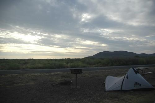 Our campsite...