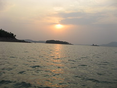 Sunset (SUJOY DAS) Tags: sunset india dam dvc maithon crazyheart