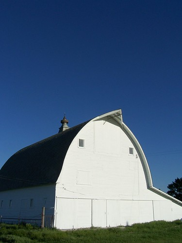 freshly painted barn