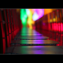 Colourful bokeh (JannaPham) Tags: show trip travel pink light holiday abstract green art colors fashion night canon mall wednesday eos chair dubai purple bokeh emirates 5d catwalk markii project365 hbw 85365 jannapham