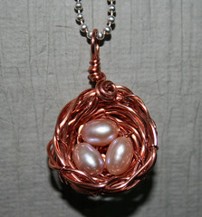 copper & pearl birdsnest