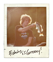 fishing is groovy (bigbuzzhunt) Tags: fish bass nephew billabong largemouth 70shair lastsunday fauxpolaroid