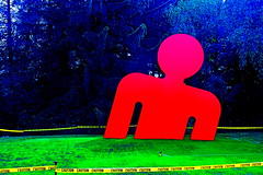 lincoln massachusetts decordova museum red man (photographynatalia) Tags: boston newengland redsculpture decordovamuseum