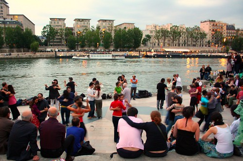 Ballroom dancing by the Seine