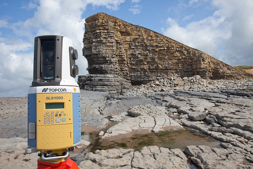 Topcon GLS-1000 in action on the Heritage Coast
