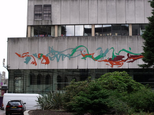 Birmingham Central Library - colourful squiggles