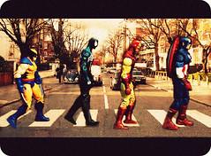 Marvel Road (Supermean) Tags: spiderman ironman abbeyroad marvel captainamerica wolverine thebeatles marveluniverse
