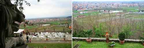 Vista dal parco del Roccolo Piemonte Italia