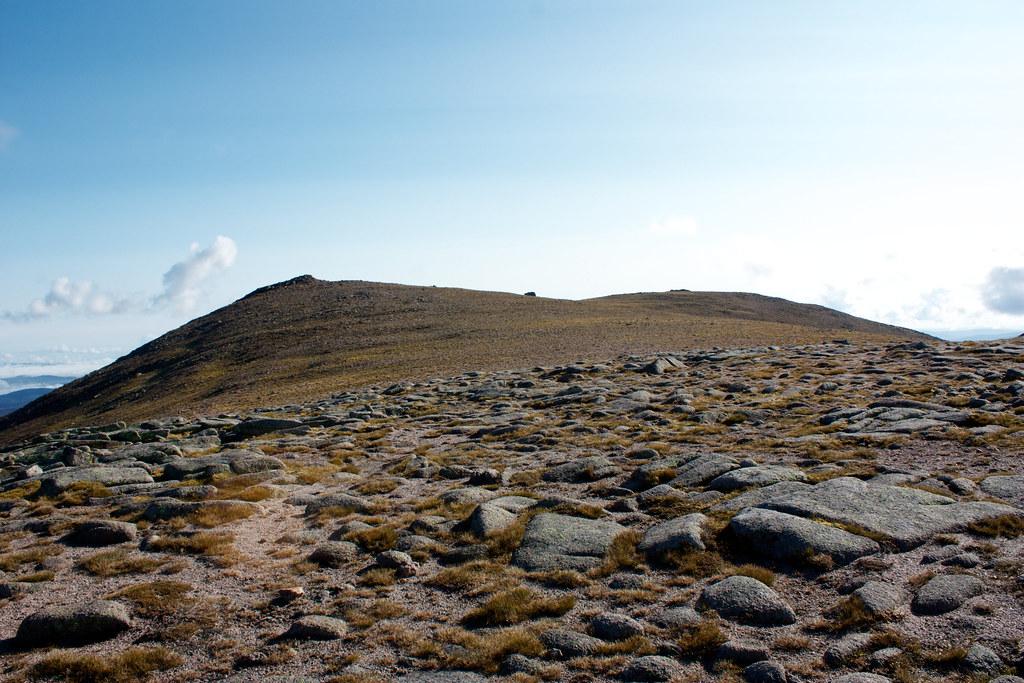 The Beinn Mheadhoin summit plateau