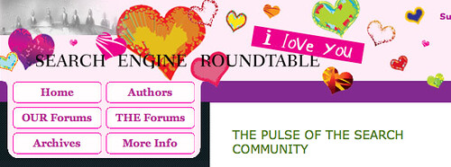 Search Engine Roundtable's Valentines Day Logo