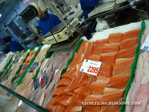 salmon and other fish fillets