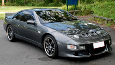Nissan 300zx 2 (OzJustin) Tags: wheel bar grey nissan front clear turbo custom rim spec jap zed stillen fairlady targa gunmetal indicator 300zx gmax vg30dett