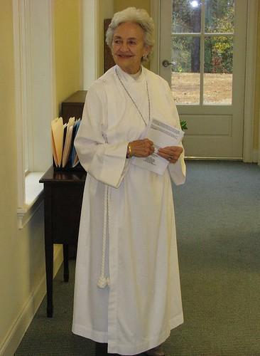 Liz Dixon serves as a Lay Eucharistic Min  <div style=