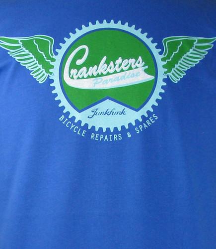 cranksters paradise/junkfunk mens t shirt