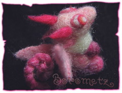 Pukis (borometz) Tags: pink color art wool monster toy dragon craft felt plush fantasy tiny needlefelting legend mythology myth handcraft    needlefelted        atelierborometz