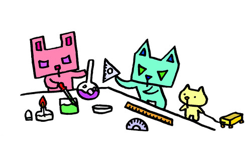 四角うさぎの実験と三角うさぎの計測