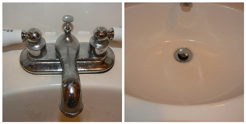 Nasty faucet and dirty sink
