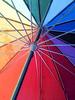 a snowing day (Simple Dolphin) Tags: snow umbrella switzerland rainbow colorful suisse neige arcenciel parapluie cdf
