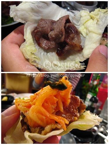 你拍攝的 生菜包肉。