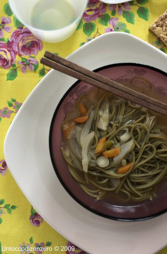 Green tea soba soup n°2!